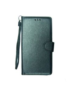 Flip Stand Leather Case For Samsung S10 Black