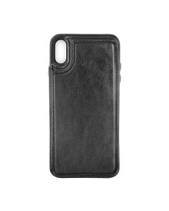 Fitted Leather Case For iPhone XR Black