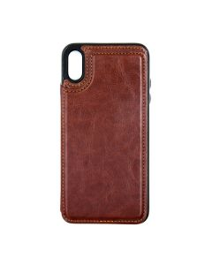 Fitted Leather Case For iPhone XS Max Brown