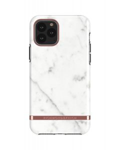 Richmond & Finch White Marble - Rose gold details, iPhone 11 Pro Max