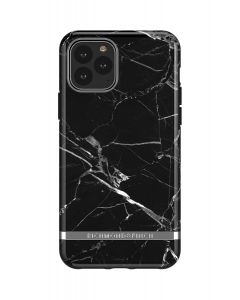 Richmond & Finch Black Marble - Silver details,iPhone 11